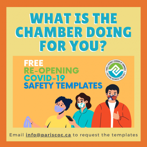 Email info@pariscoc.ca for COVID-19 Reopening Templates